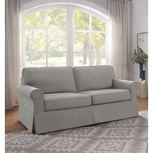 Ashton Slipcover Sofa Cottage Style In Fog Fabric