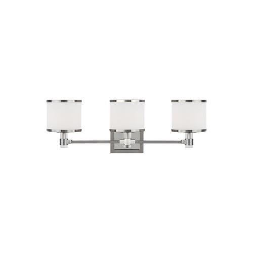Winter Park 3 - Light LED Vanity Satin Nickel Bulbs Inc