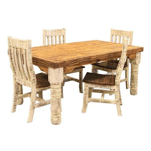 L.M.T. Rustic and Western Imports - 6' White Table