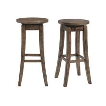 "Finn 30"" Swivel Backless Bar Stool"