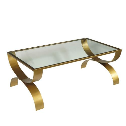 Bella Iron Coffee Table with Glass Top