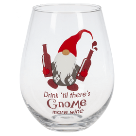 The Stupendous Stemless Wine Glass - Drink 'Til there's Gnome more wine