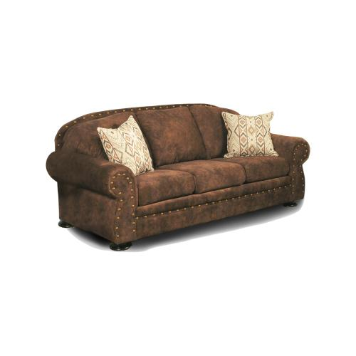 Intermountain Furniture - Wyoming Leather Look Sofa With 2 Pillows
