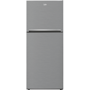 """Beko28"""" Freezer Top Stainless Steel Refrigerator with Auto Ice Maker"""