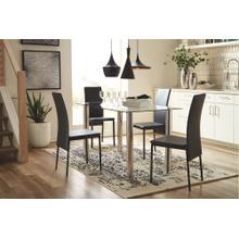 Sariden Table & 4 Chairs Chrome/Black
