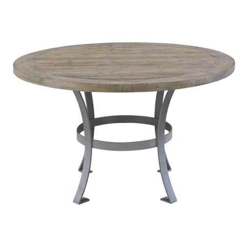 Emerald Home Interlude Round Dining Table Top Sandstone Gray D560-14top-05