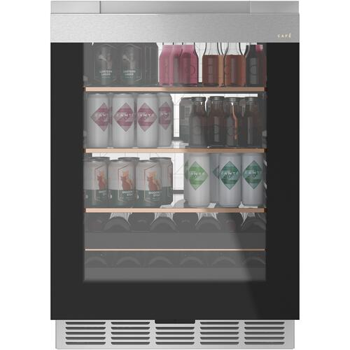 Café Beverage Center in Platinum Glass