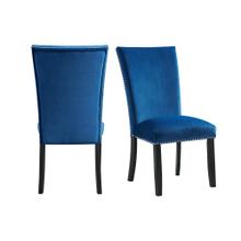 Francesca Blue Velvet Side Chair Set