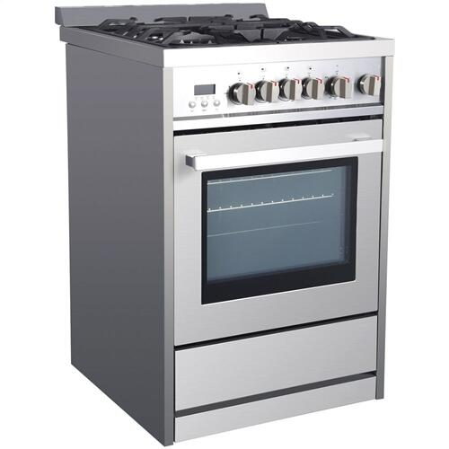 Galanz - Galanz 2.7 Cu Ft Radiant Gas Range in Stainless Steel