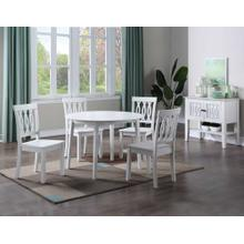View Product - Naples 5-Piece Drop-Leaf Dining (Table & 4 Side Chairs)