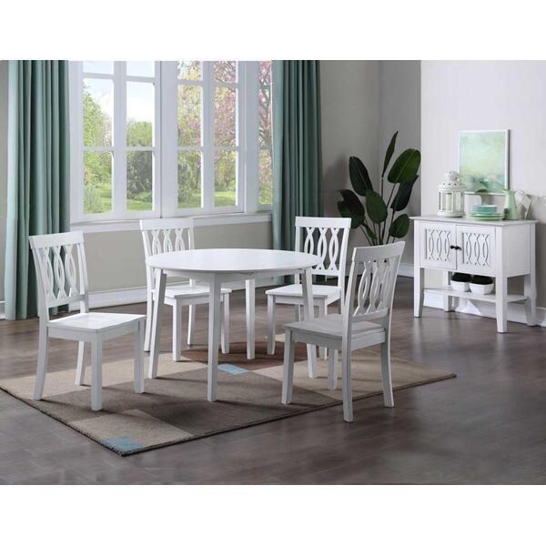 See Details - Naples 5-Piece Drop-Leaf Dining (Table & 4 Side Chairs)