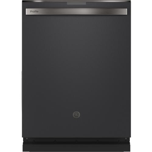 GE Profile™ Stainless Steel Interior Dishwasher with Hidden Controls Black Slate - PDT715SFNDS