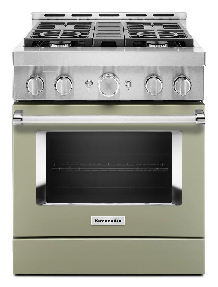 KitchenaidKitchenaid® 30'' Smart Commercial-Style Gas Range With 4 Burners - Avocado Cream