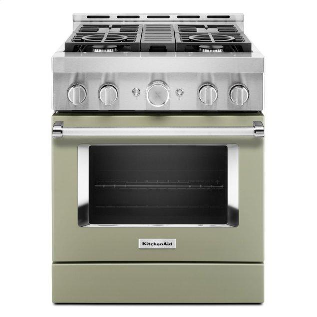 Kitchenaid KitchenAid® 30'' Smart Commercial-Style Gas Range with 4 Burners - Avocado Cream