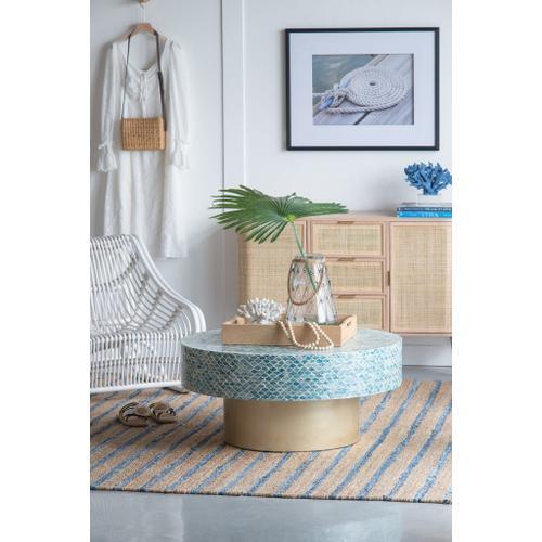 A & B Home - Capiz Coffee Table