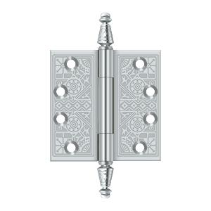 "4"" x 4"" Square Hinges - Polished Chrome"