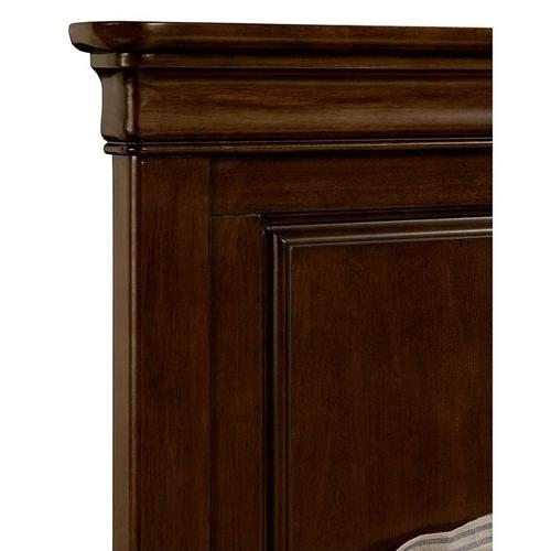 Teaberry Lane Midnight Cherry Queen Panel Bed