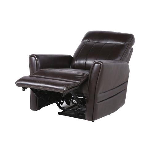 Coachella Dual-Power Leather Recliner, Brown