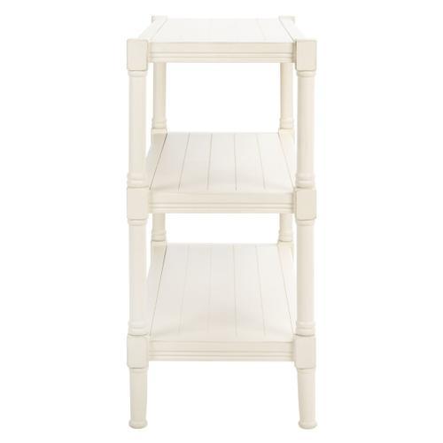 Safavieh - Rafiki 3 Shelf Console Table - Distressed White