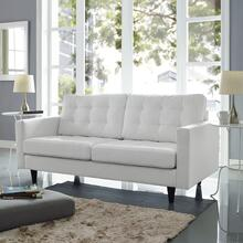 See Details - Empress Bonded Leather Loveseat in White