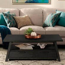 Perspectives - Large Coffee Table - Ebonized Acacia Finish