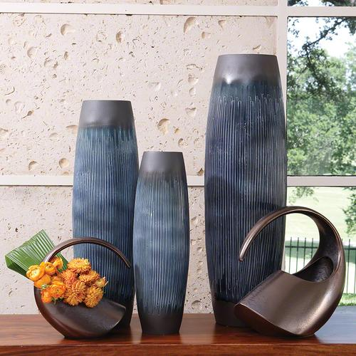 Matchstick Vase-Ink-Lg