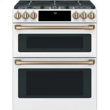 """Cafe™ 30"""" Smart Slide-In, Front-Control, Gas Double-Oven Range with Convection"""