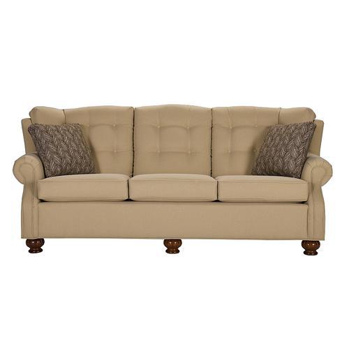 Lancer - Sofa with Oak fluted spindle leg