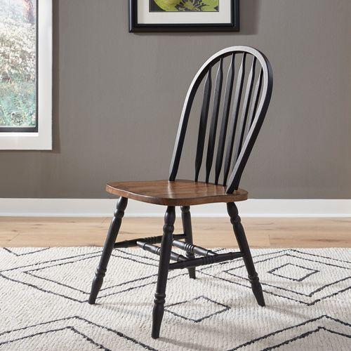 3 Piece Round Table Set- Black