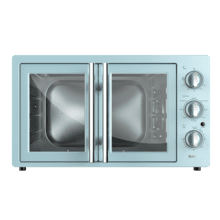 Galanz 1.5 Cu Ft Retro French Door Toaster Oven with Air Fry in Bebop Blue