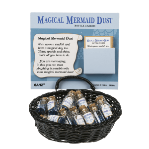 Magical Mermaid Dust Bottle Charms in a Basket (24 pc. ppk.)