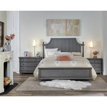 Bella Grigio - King/california King Panel Headboard - Chipped Gray Finish