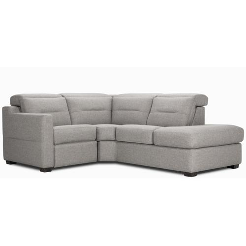Portofino Sectional (041-024; Wood legs - Black B6) with half arm