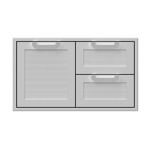 """36"""" Hestan Outdoor Combo Door/Drawer - AGSDR Series - Steeletto"""