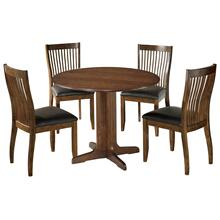 5 Piece Set (Drop Leaf Table and 4 Chairs)