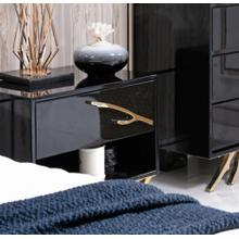 Modrest Legend Modern Black & Gold Nightstand