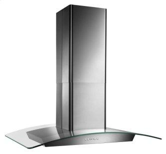 Broan™ Elite 35-3/8-Inch x 25-5/8-Inch Convertible Curved Glass Canopy Island Range Hood, 520 Max Blower CFM, Stainless