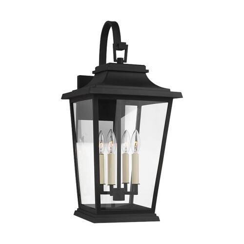 Warren Wall Lantern Textured Black