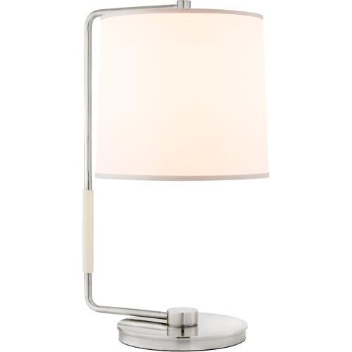 Visual Comfort BBL3070SS-S Barbara Barry Swing 22 inch 75 watt Soft Silver Table Lamp Portable Light, Barbara Barry, Silk Shade