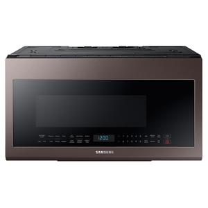 Samsung2.1 cu. ft. Smart BESPOKE Over-the-Range Microwave with Sensor Cooking in Fingerprint Resistant Tuscan Stainless Steel