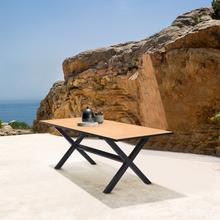 See Details - Paseo Outdoor Black Aluminum Rectangular Dining Table