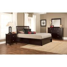 Metro 4pc Queen Espresso Bedroom with Liza Storage Bed