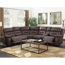 Aria Saddle Brown 3-Piece Dual-Power Reclining Sectional