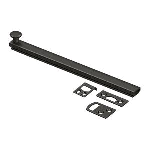 """Deltana - 8"""" Surface Bolt, Concealed Screw, HD - Oil-rubbed Bronze"""