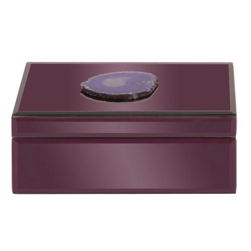 Amethyst Purple Geode Jewelry Box