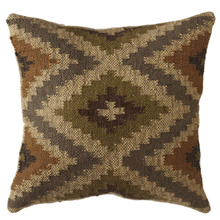 Olive, Tan, & Grey Kilim Pillow
