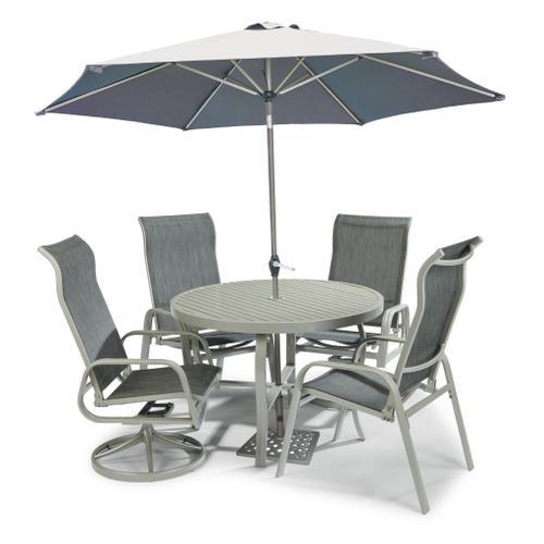 Product Image - Captiva 5 Piece Outdoor Dining Set With Umbrella