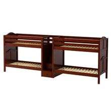 Medium High Quadruple Bunk Bed with Staircase on End