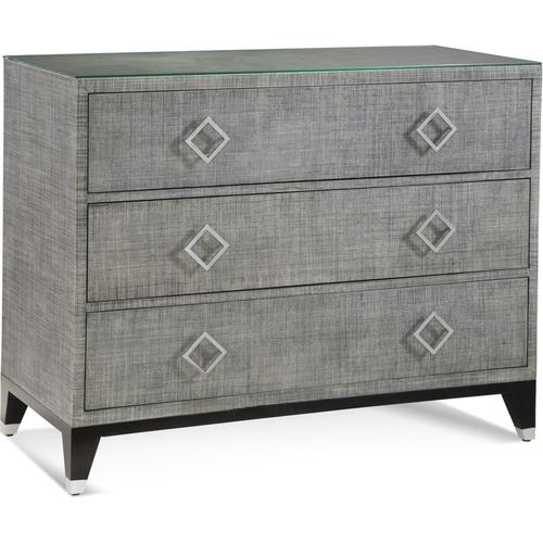 Clarendon Three Drawer Chest in Grey