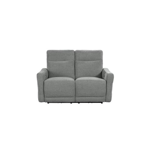 Power Double Lay Flat Reclining Sofa with Power Headrests and USB Ports